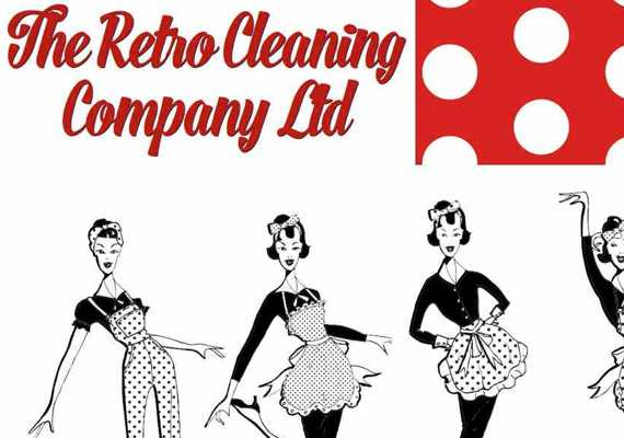 Retro cleaning company designs.